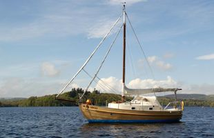 1986 Skanner 24 Gaff Rigged Cutter with twin axle road trailer