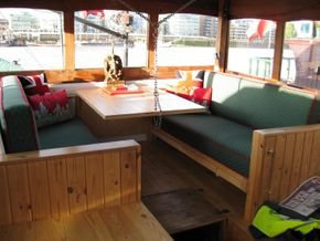 Wheelhouse seating and 'occasional' bed