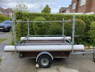 Double dinghy/boat trailer