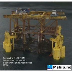 Removing 11.600 TON oil platform jacket