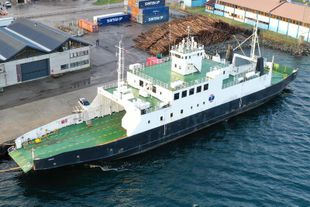 77 meters Ro-Ro pax ferry rebuilt in 2008 for approx Euro 3.4 million
