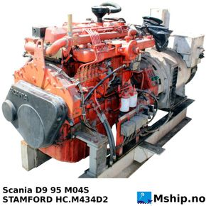 Two Scania D9 95,   250  kVA generator set