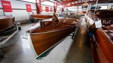1936 Antique Minett Sheilds Triple Cockpit Runabout