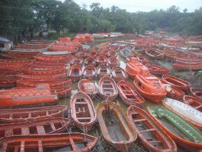 Old Unused Lifeboat