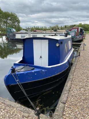 """23ft 6"""" traditional stern narrowboat built by Paul Widdowson in 2005"""