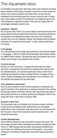 The Aquamatic story