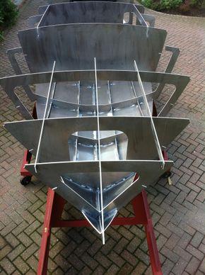 Hull under fabrication
