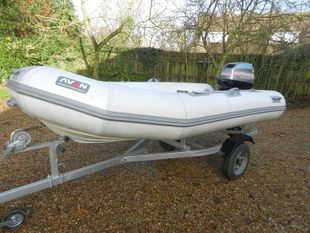 Avon  3.5 sports Rib ......  with 40 Hp engine and road trailer