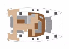 Manufacturer Provided Image: Manufacturer Provided Image: Fountaine Pajot Lucia 40 Lower Deck Layout Plan