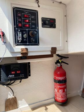 Electrical panel, Solar regulator & battery monitor