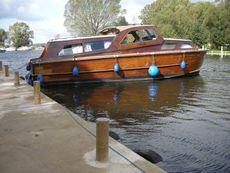 Vintage Wooden Broads Cruiser