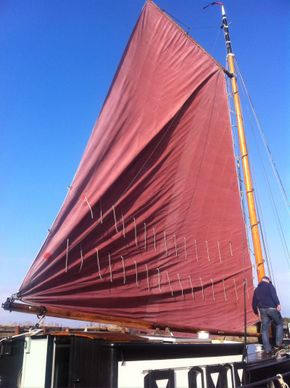 Full set of sails and new mast and rigging