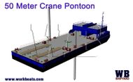 50 Meter Crane Barge  / Twin Spud / Accomodation