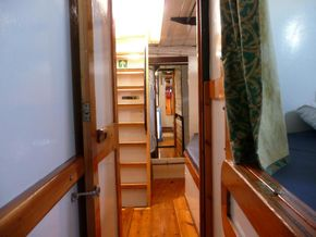 Looking Aft from the port cabin to the crew cabin