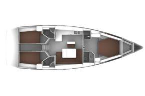 Bavaria Cruiser 46 Style - 3 cabin layout