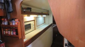 galley walk through to aft cabin