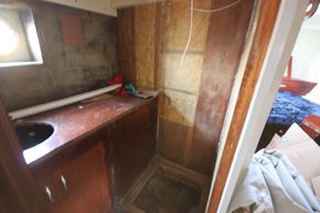 Shower room awaiting fit out