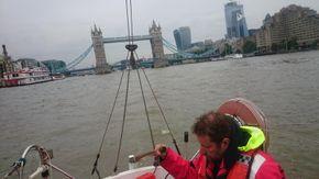 Sailing Nimrod on the Thames
