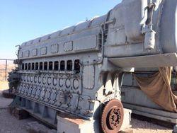 Fairbanks Morse 12 cyl 38D 1/8 OP Dual Fuel Engine