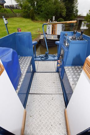 Stern deck from cabin