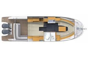 Jeanneau Cap Camarat 10.5 WA - interior diagram
