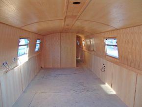 Rear bathroom bulkhead and saloon area