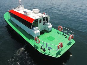 Crew boat with Deck Area
