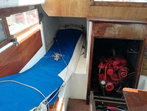 starboard quarter berth and engine compartment