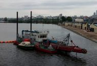 [DRG093] River non self-propelled diesel dredger
