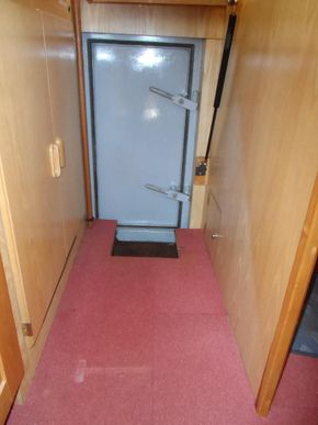 Watertight door to engine room