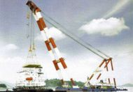 1000t Sheeleg Floating Crane Barge