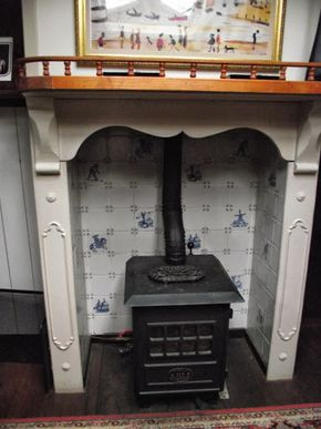 Oilstove and antique surround
