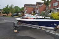 Classic Laser 1 Dinghy Inc road base and launch trolley