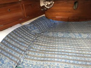 large aft cabin with custom made mattress