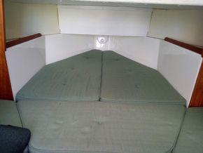Forward double berth
