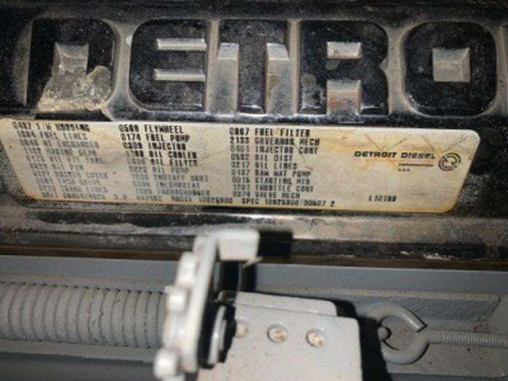 DETROIT DIESEL 6 71 TI 485 HP @ 2500 RPM