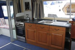 Galley with cooker