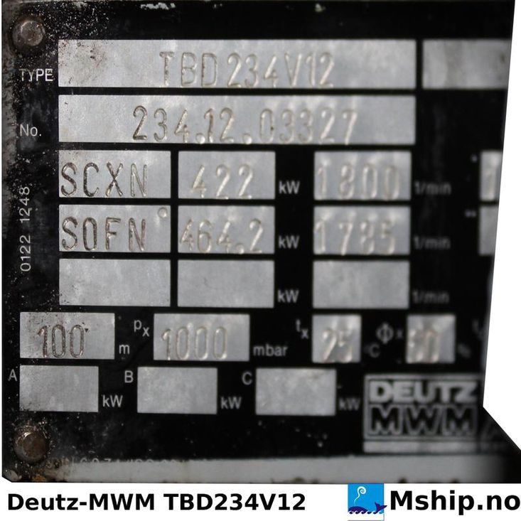 DEUTZ MWM TBD 234 V12