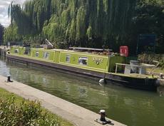 """64"""" Narrowboat Snipe in London"""