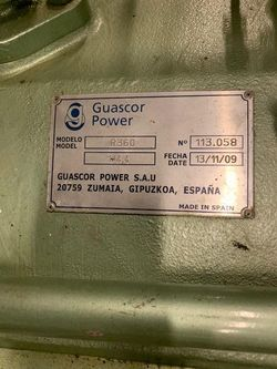 SOLD!!! GUASCOR R360 MARINE GEARBOX WITH PTO