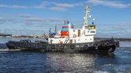 Vintage ice breaking tug Harald.