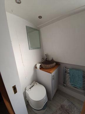 Bathroom - basin and toilet