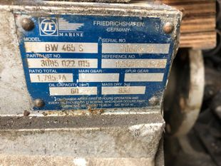 ZF BW465S Ratio 1.795:1A - V-drive