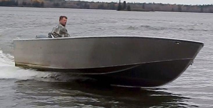 New 19′ x 8′ Aluminum Work/Fishing Tiller Boat