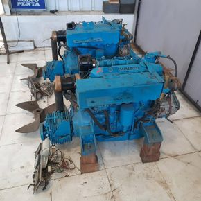 mitsubishi s4 inboard diesel engine pair from lifeboat