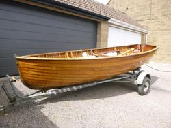 Classic clinker-built Lapwing dinghy