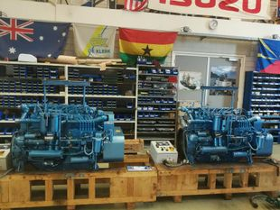 Baudouin    6W105      (2 engines) and 1 Generator 6M16 265 kva