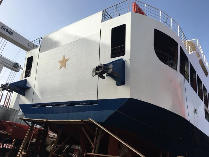 LCT WITH BOW AND AFT RAMP FITTED