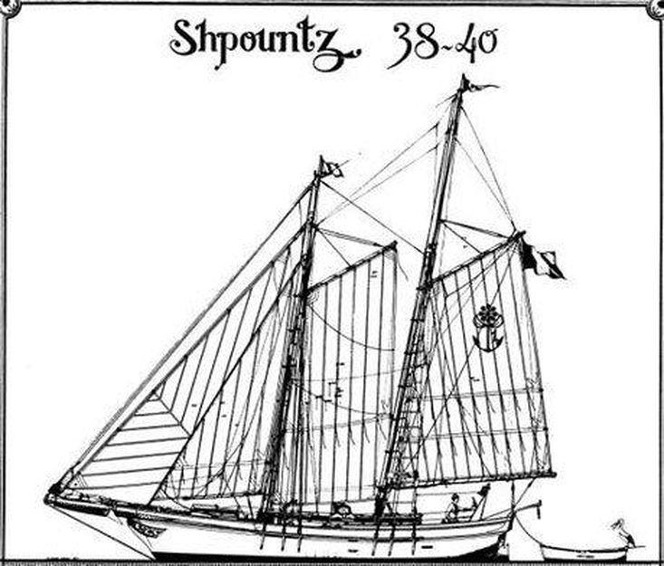 42ft. TRADITIONAL SHPOUNZT CENTRE-BOARD SCHOONER