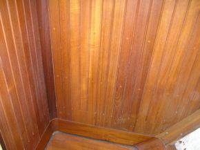 Hardwood Shower Stall
